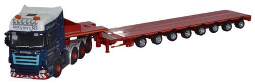 Oxford Diecast Scania R Series Topline Low Loader McFadyens - 1:76 Sca