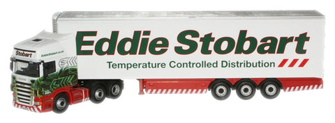 Oxford Diecast Eddie Stobart Scania Fridge - 1:76 Scale