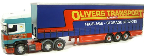 Oxford Diecast Olivers Transport  Scania - 1:76 Scale