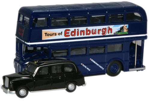 Oxford Diecast Scotland Bus & Taxi - 1:76 Scale