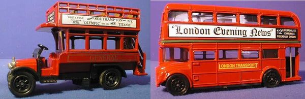 Oxford Diecast London Bus Set
