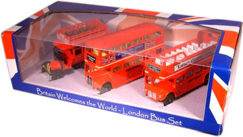 Oxford Diecast Triple Bus Set - 1:76 Scale