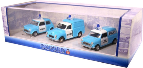 Oxford Diecast Triple Police Set - 1:43 Scale