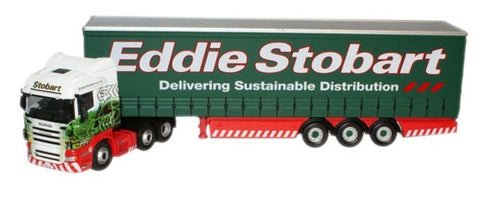 Oxford Diecast Eddie Stobart Scania Highline Curtainside - 1:76 Scale