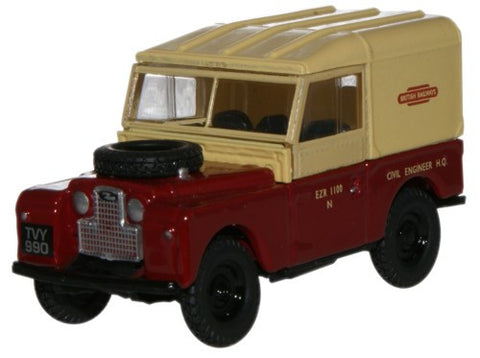 Oxford Diecast British Railways Land Rover - 1:76 Scale