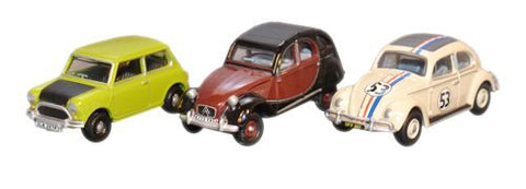 Oxford Diecast Brantho Korrux Triple Set Mini Citroen VW - 1:76 Scale