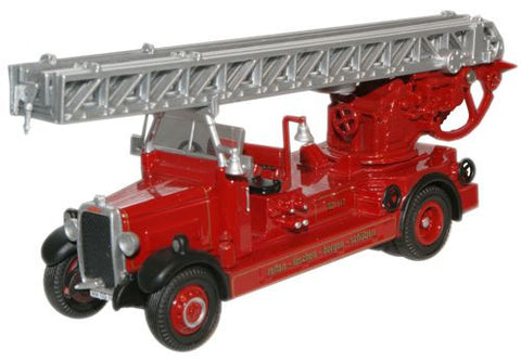 Oxford Diecast Brantho Korrux Leyland TLM Fire Engine - 1:76 Scale