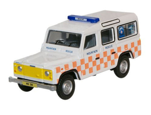 Oxford Diecast Land Rover Mountain Rescue - 1:76 Scale