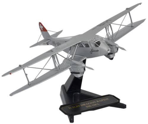 Oxford Diecast Dragon Rapide Swissair - 1:72 Scale
