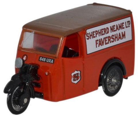 Oxford Diecast Shepherd Neame Tricycle Van - 1:76 Scale