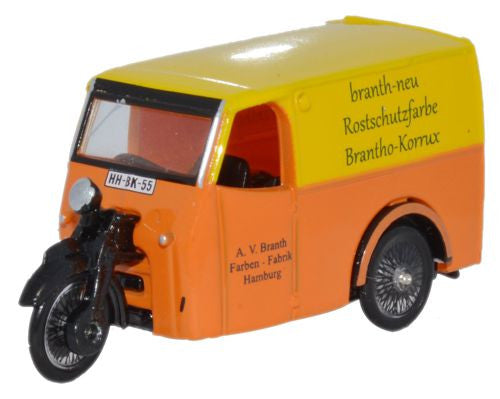 Oxford Diecast Branth Korrux Tricycle Van - 1:76 Scale
