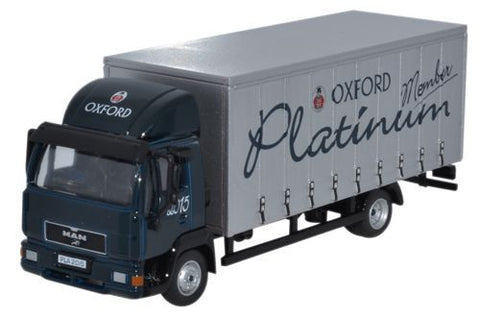 Oxford Diecast MAN L2000 Box Van Platinum 2015 - 1:76 Scale