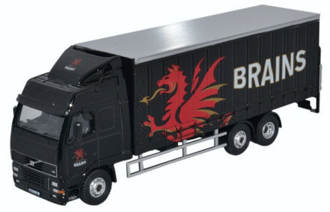 Oxford Diecast Volvo FH Curtainside Lorry Brains