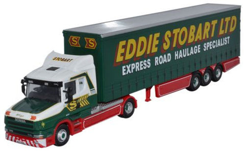 Oxford Diecast Eddie Stobart Scania T Cab Curtainside - 1:76 Scale
