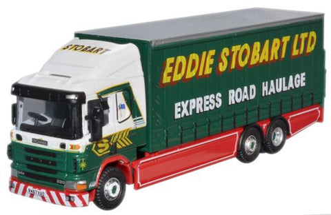 Oxford Diecast Eddie Stobart Scania 94 6 Wheel Curtainside - 1:76 Scal