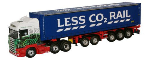 Oxford Diecast Scania Highline Skeletal Trailer & Container - 1:76 Sca