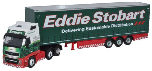 Oxford Diecast Eddie Stobart Volvo FH   Curtainside - 1:76 Scale