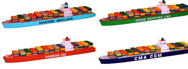 TRIANG Container Ship - Bay - 4 Types - 1:1200 Scale