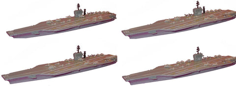 TRIANG Nimitz Carrier and Aircraft - 4 Types - 1:1200 Scale