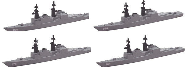 TRIANG Spruance Destroyer - 4 Types - 1:1200 Scale
