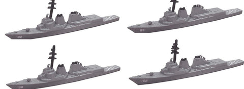 TRIANG Arleigh Burke Destroyer - 4 Types - 1:1200 Scale