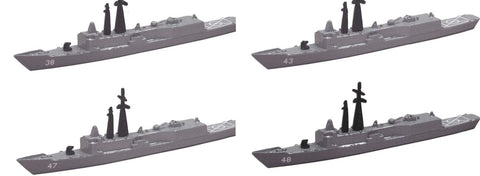 TRIANG OH Perry Frigate - 4 Types - 1:1200 Scale