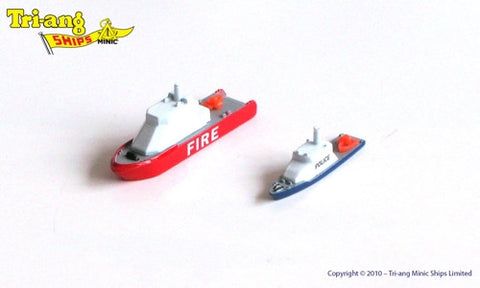 TRIANG Fire Boat & Police Launch - 1:1200 Scale