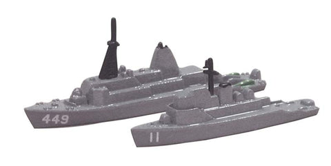 TRIANG USS Gladiator MCM 11 & USS Impervious MSO 449 - 1:1200 Scale