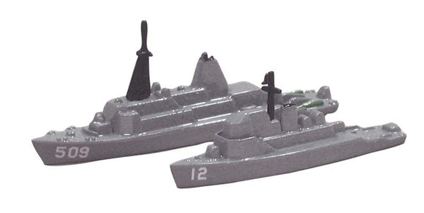 TRIANG USS Ardent MCM 12 and USS Adroit MSO 509 - 1:1200 Scale