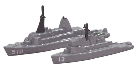 TRIANG USS Dextrous MCM 13 and USS Advance MSO 510 - 1:1200 Scale
