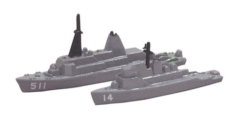 TRIANG USS Chief MCM 14 and USS Affray MSO 511 - 1:1200 Scale