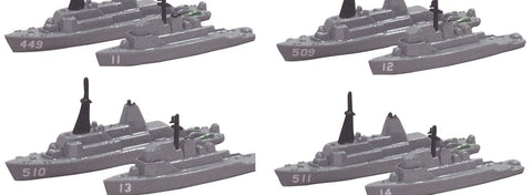 TRIANG USN Minesweeper Set 4 Types - 1:1200 Scale