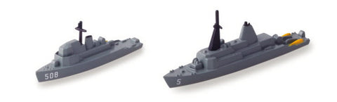 TRIANG USS Guardian MCM 5 & USS Acme MSO 508 - 1:1200 Scale