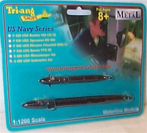 TRIANG US Navy Submarine Set - 1:1200 Scale