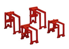 TRIANG Container Gantry Set - 2 x Large + 2 x Small Orange - 1:1200 Scale