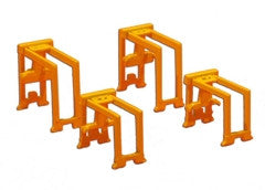 TRIANG Container Gantry Set - 2 x Large + 2 x Small Yellow - 1:1200 Sc