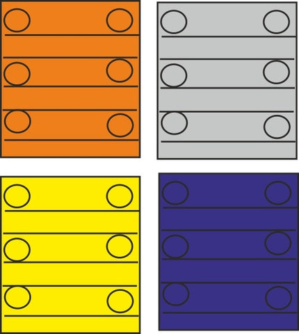 TRIANG Container Blocks - 4 colours - 1:1200 Scale