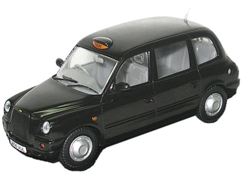 Oxford Diecast TX4 Taxi Black - 1:43 Scale