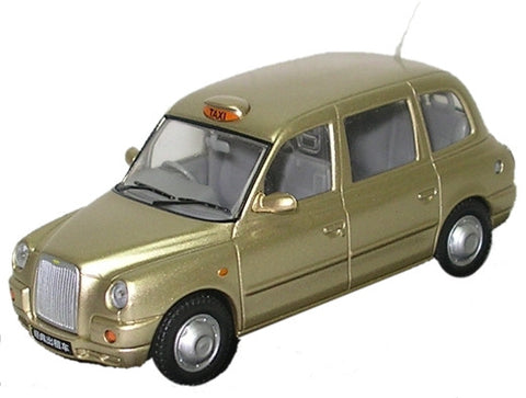 Oxford Diecast TX4 Taxi Gold - 1:43 Scale