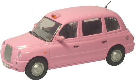 Oxford Diecast Pink TX4 Taxi - 1:43 Scale