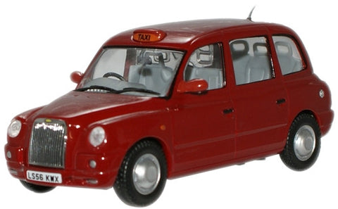Oxford Diecast Nightfire Red TX4 Taxi - 1:43 Scale