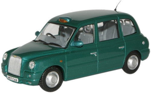 Oxford Diecast Peacock Green Metallic TX4 Taxi - 1:43 Scale