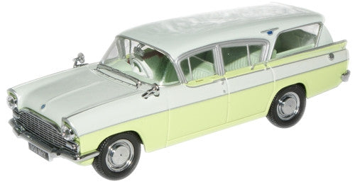 Oxford Diecast Swan White/Lime Yellow Vauxhall Cresta - 1:43 Scale