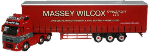 Oxford Diecast Massey Wilcox Volvo FH Curtainside - 1:76 Scale