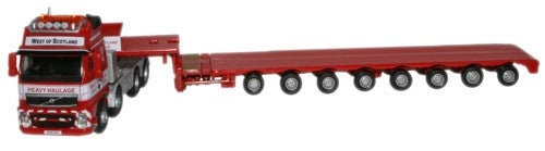 Oxford Diecast West Of Scotland Volvo FH Low Loader - 1:76 Scale