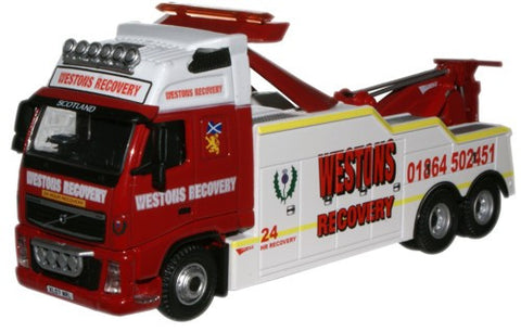Oxford Diecast Westons Volvo FH Recovery Truck - 1:76 Scale