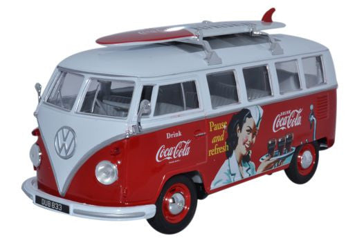 Oxford Diecast VW Bus Coca Cola - 1:24 Scale