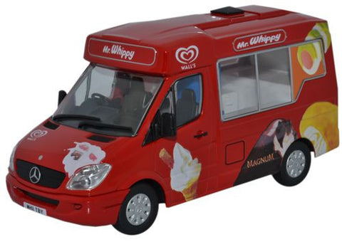 Oxford Diecast Walls Ice Cream Whitby Mondial Ice Cream Van - 1:43 Sca