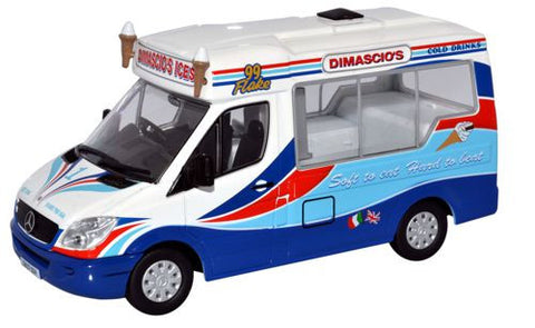 Oxford Diecast Dimascio's Mercedes Ice Cream Van - 1:43 Scale
