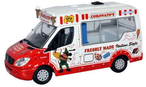 Oxford Diecast Coronatos Whitby Mondial Ice Cream Van - 1:43 Scale